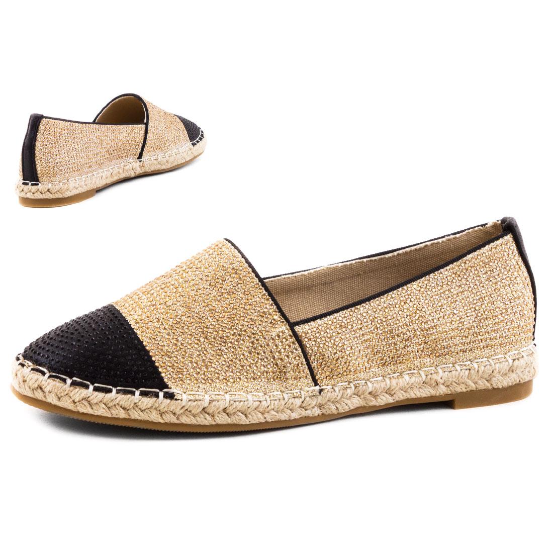 neu damen sommer espadrilles sneaker slipper bast strass gr 36 37 38 39 40 41 ebay. Black Bedroom Furniture Sets. Home Design Ideas