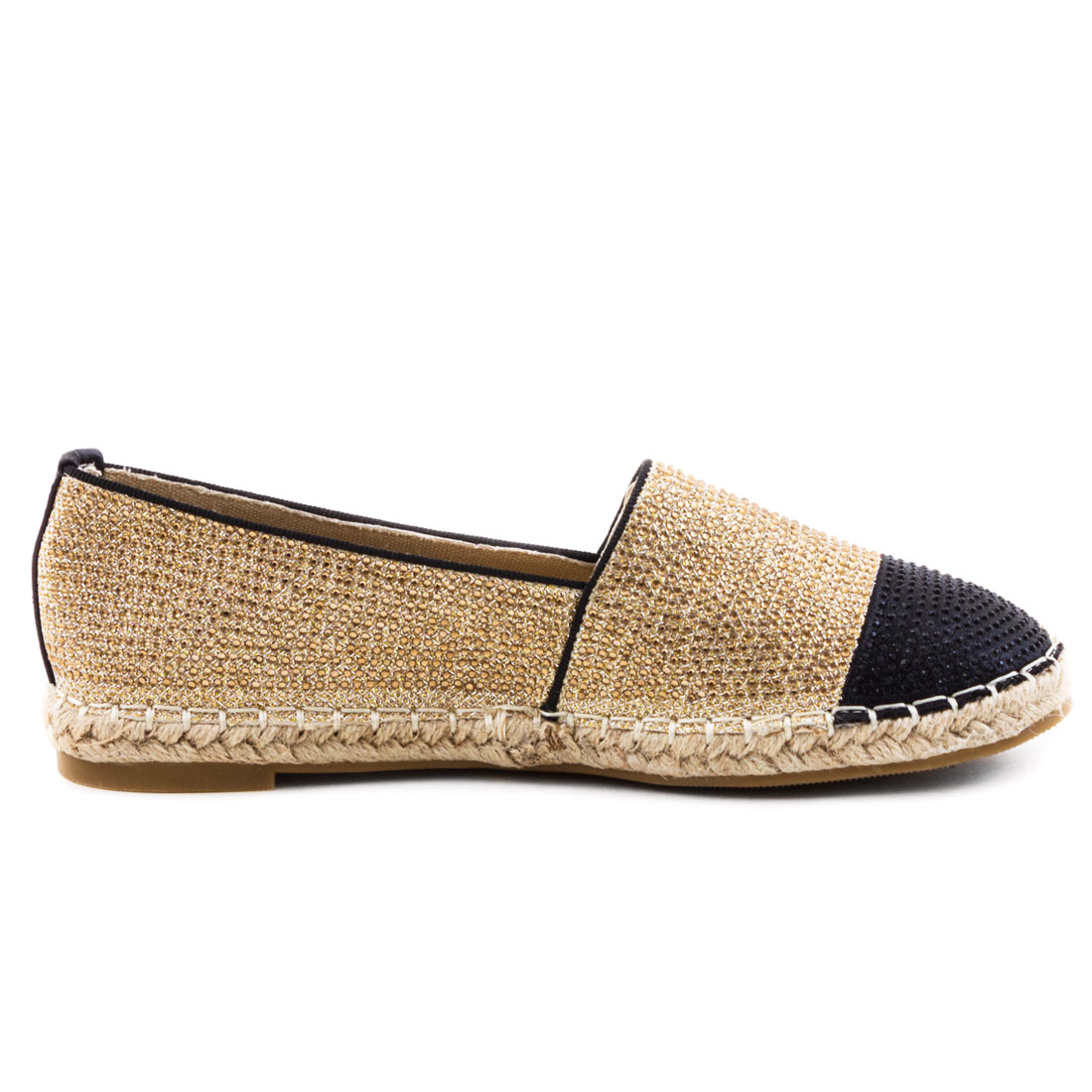 neu damen espadrilles sommer slipper halbschuhe strass. Black Bedroom Furniture Sets. Home Design Ideas