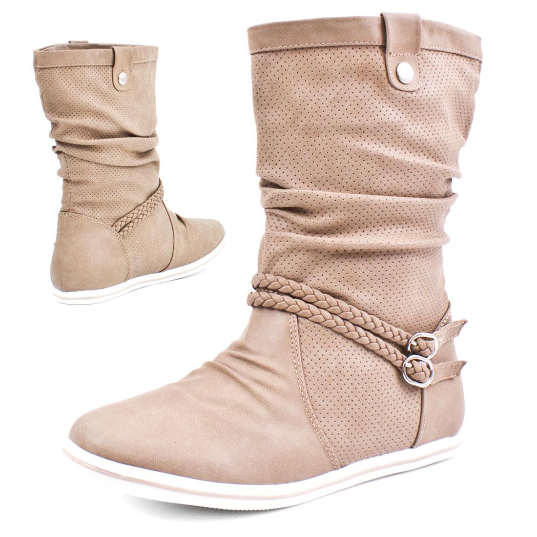 neu damen schlupf stiefel boots stiefeletten lederoptik schuhe 36 37 38 39 40 41 ebay. Black Bedroom Furniture Sets. Home Design Ideas