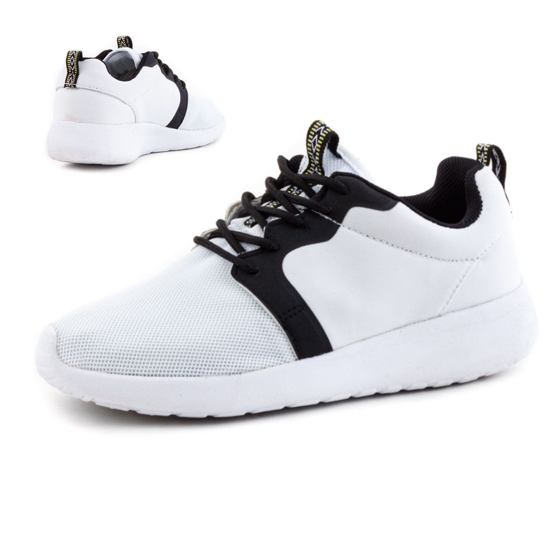 neu unisex damen herren sport sneaker wei e sohle schuhe. Black Bedroom Furniture Sets. Home Design Ideas