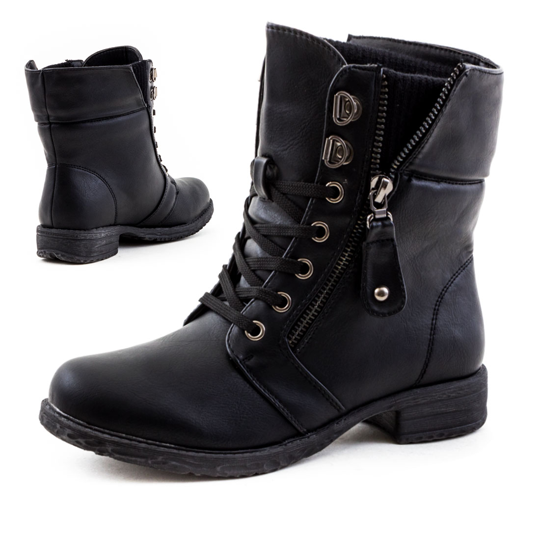 neu damen biker schn r boots spitze stiefeletten mit nieten gr 36 37 38 39 40 41 ebay. Black Bedroom Furniture Sets. Home Design Ideas