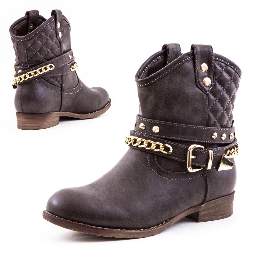 neu damen western cowboy stiefel nieten boots schuhe gr 36 37 38 39 40 41 ebay. Black Bedroom Furniture Sets. Home Design Ideas