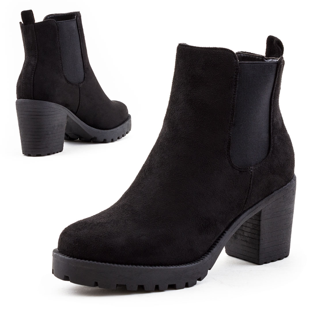 neu damen blockabsatz ankle boots blockabsatz schuhe gr 36. Black Bedroom Furniture Sets. Home Design Ideas