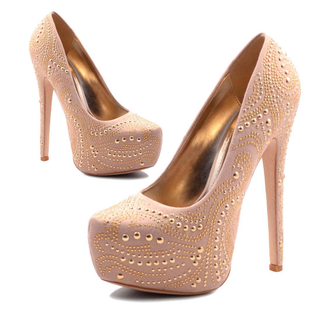 neu damen high heels party plateau pumps schuhe gr 35 36 37 38 39 40 41 ebay. Black Bedroom Furniture Sets. Home Design Ideas