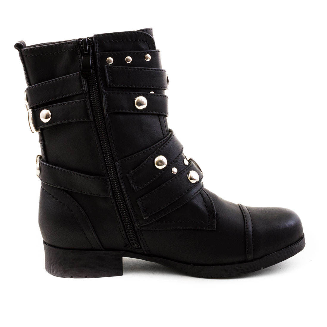 neu damen worker boots nieten stiefel stiefeletten schuhe gr 36 37 38 39 40 41 ebay. Black Bedroom Furniture Sets. Home Design Ideas