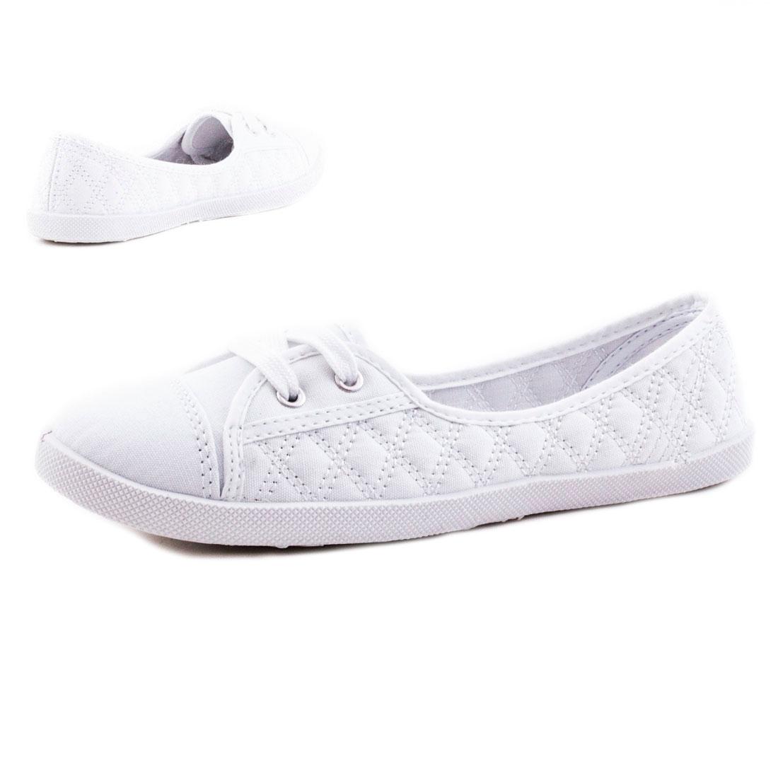 neu damen flache sommer sneaker schn r ballerinas textil gr 36 37 38 39 40 41 ebay. Black Bedroom Furniture Sets. Home Design Ideas