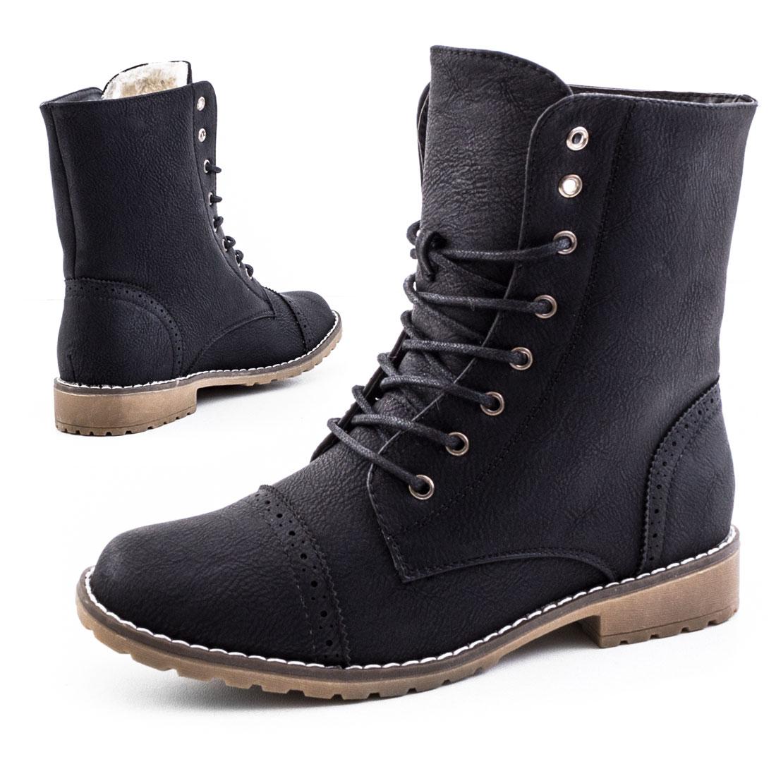 neu damen worker boots schn r stiefeletten schuhe gr e 36 37 38 39 40 41 ebay. Black Bedroom Furniture Sets. Home Design Ideas