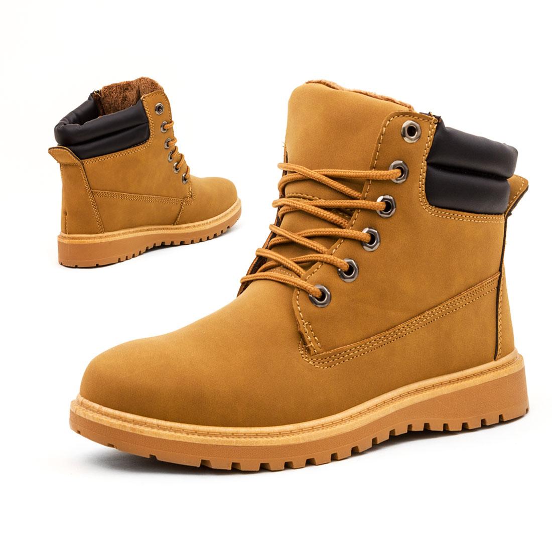 unisex damen herren schn r winter schuhe stiefeletten boots lederoptik gef ttert ebay. Black Bedroom Furniture Sets. Home Design Ideas