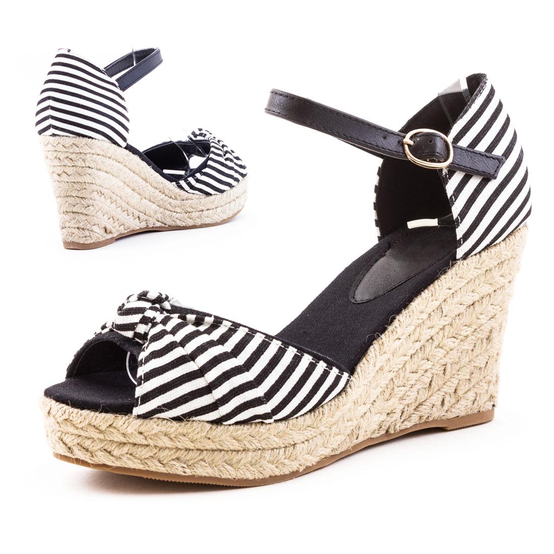 neu damen keilabsatz plateau sommer sandalen wedges schuhe gr 36 37 38 39 40 41 ebay. Black Bedroom Furniture Sets. Home Design Ideas