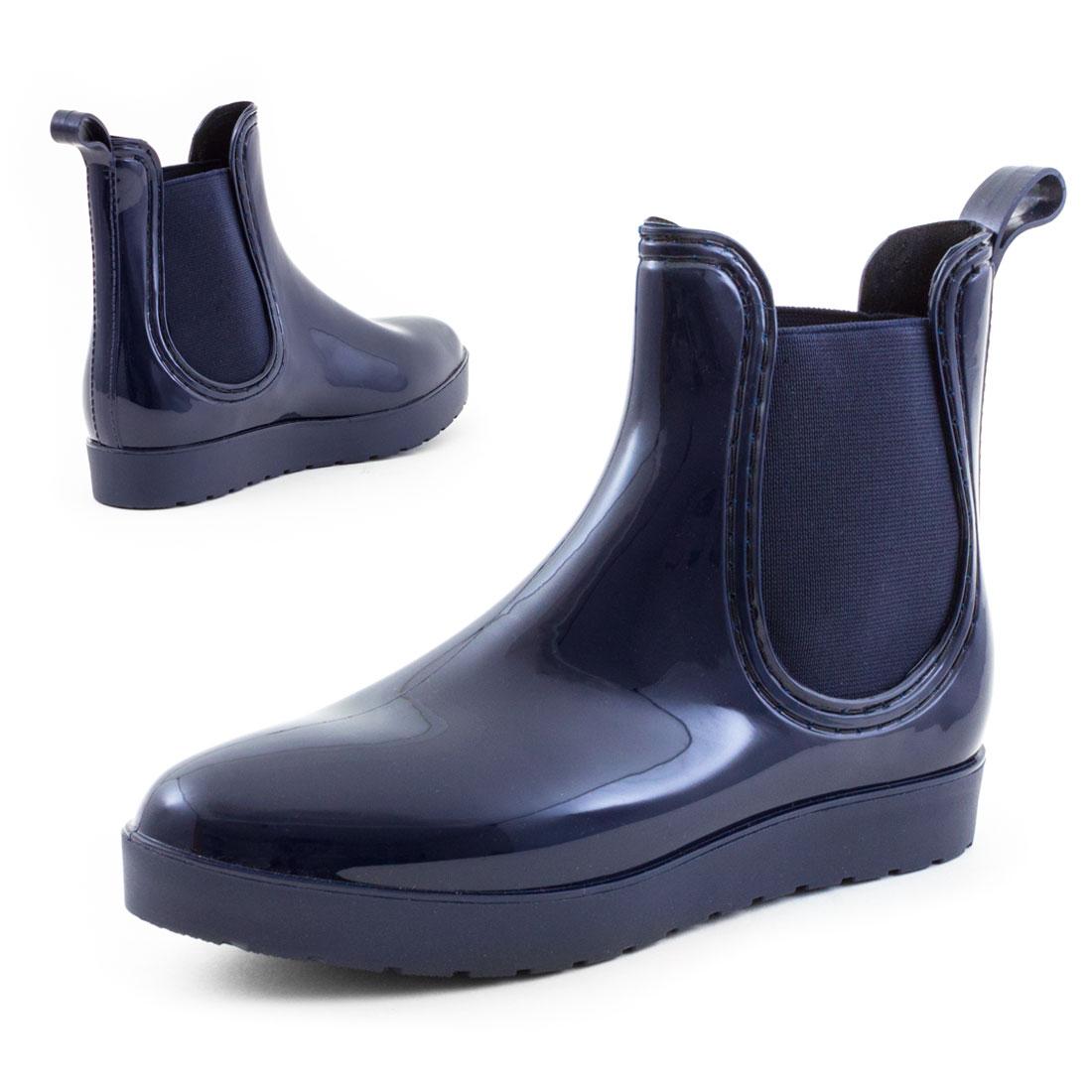 neu damen chelsea lack boots plateau gummistiefel herbst gr 36 37 38 39 40 41 ebay. Black Bedroom Furniture Sets. Home Design Ideas