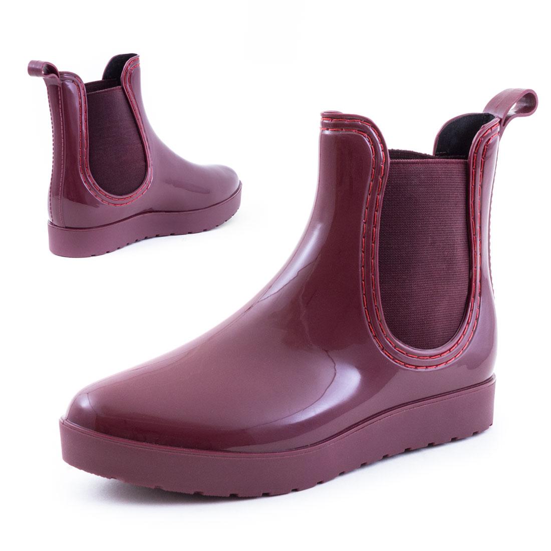neu damen chelsea lack boots plateau gummistiefel herbst. Black Bedroom Furniture Sets. Home Design Ideas