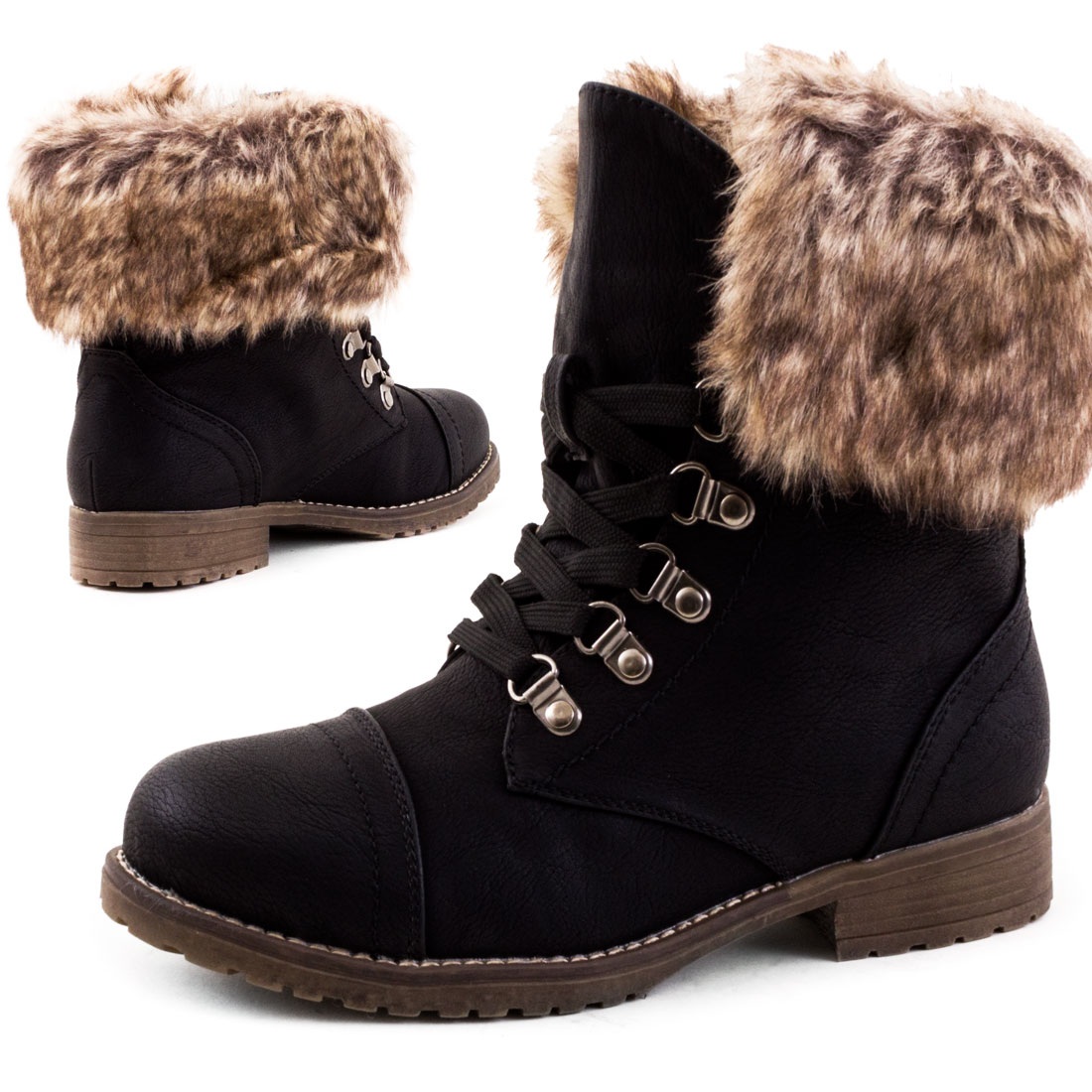 neu damen gef ttert schn r boots winter stiefeletten. Black Bedroom Furniture Sets. Home Design Ideas