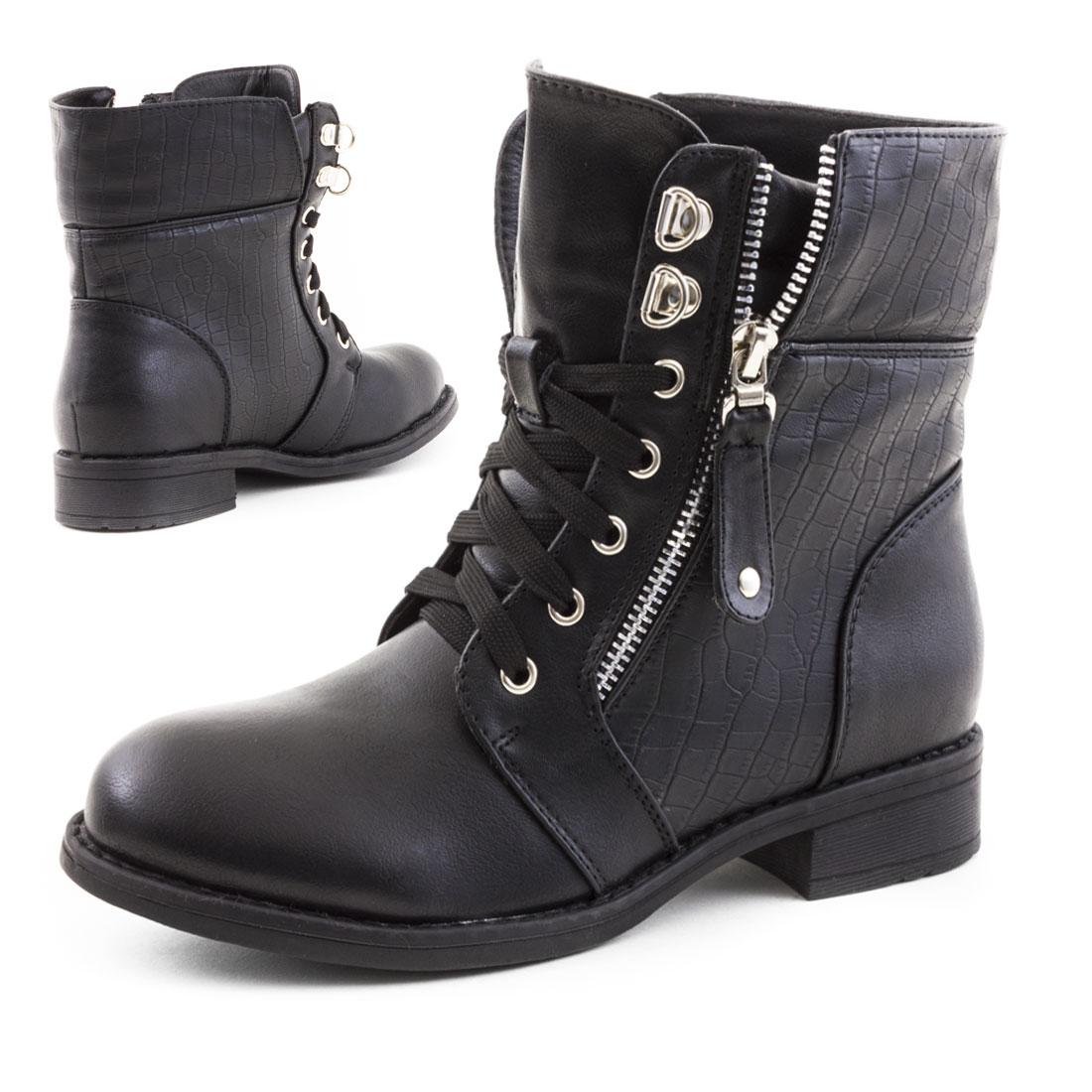Schwarze Biker Boots (37,38,39,40)