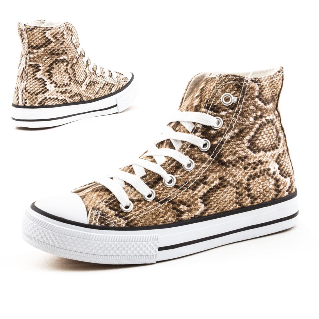 neu damen high top sneaker textil turnschuhe nieten schuhe gr 36 37 38 39 40 41 ebay. Black Bedroom Furniture Sets. Home Design Ideas