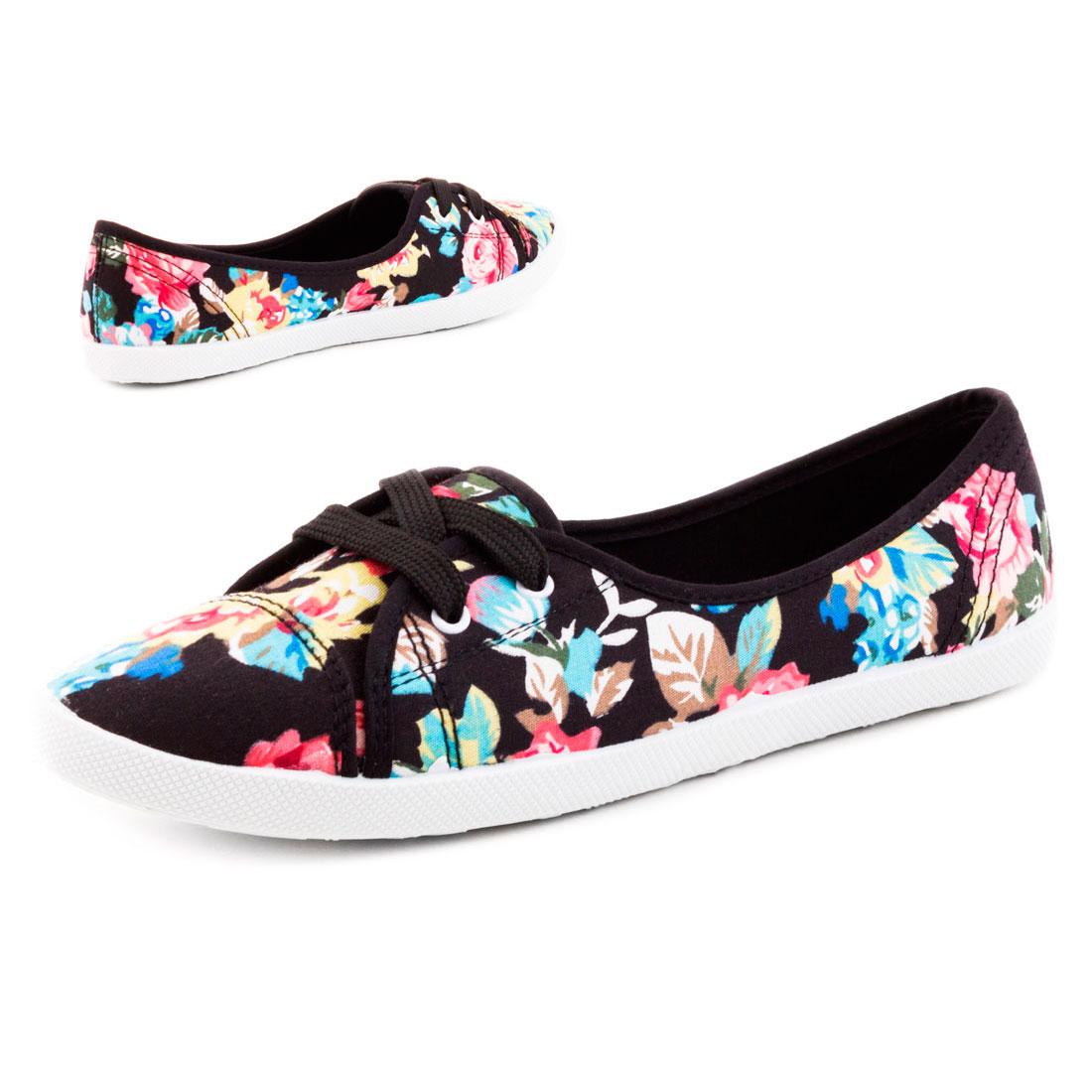 neu damen slipper sommer sneaker ballerinas canvas schuhe. Black Bedroom Furniture Sets. Home Design Ideas