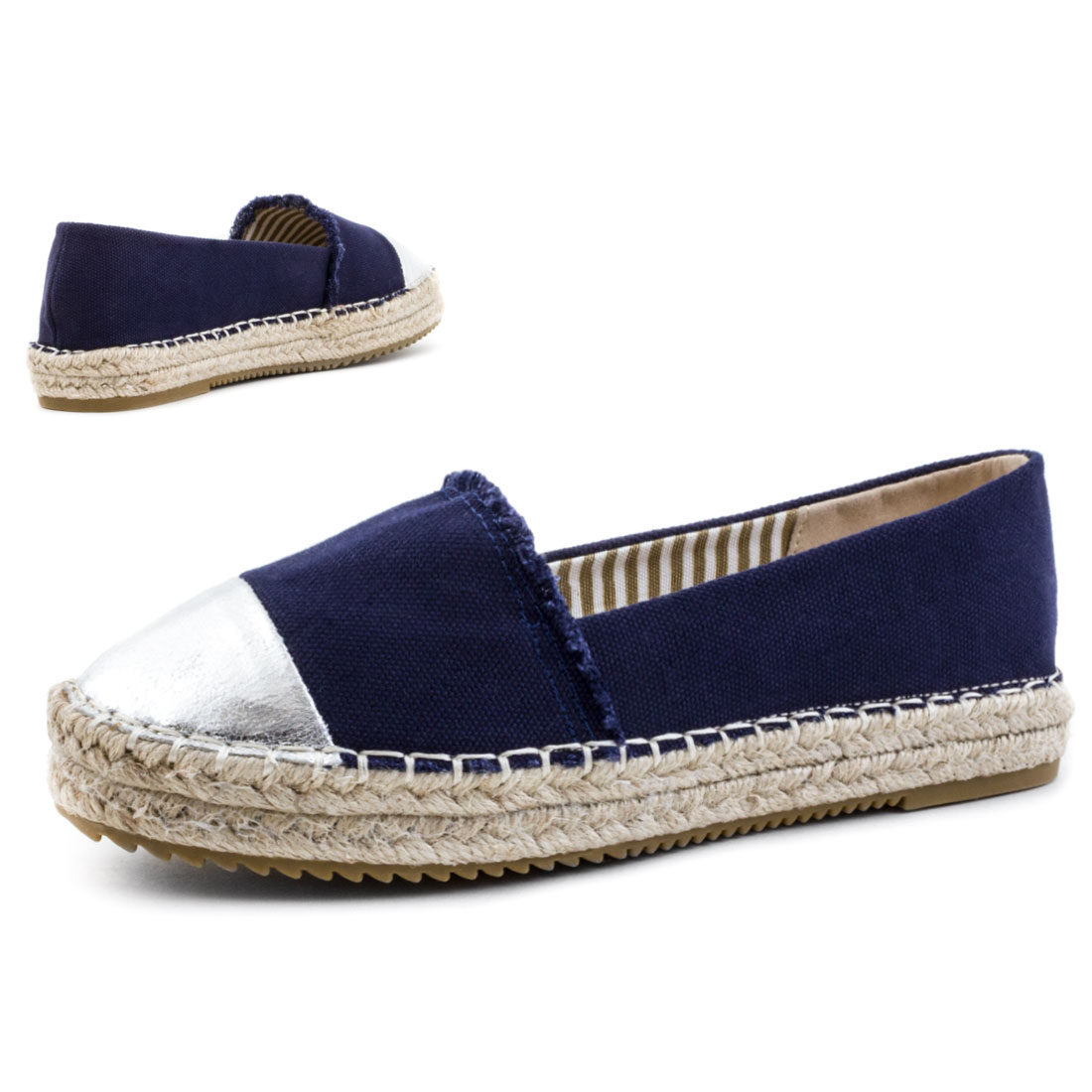 neu damen sommer espadrilles canvas slipper bast schuhe gr 36 37 38 39 40 41 ebay. Black Bedroom Furniture Sets. Home Design Ideas