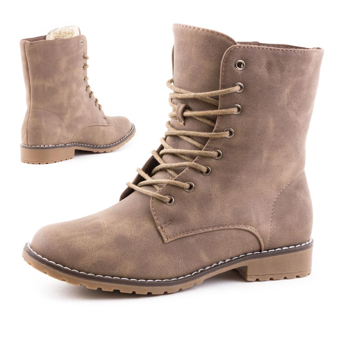 neu damen schn r stiefeletten stiefel boots schuhe gr e 36 37 38 39 40 41 ebay. Black Bedroom Furniture Sets. Home Design Ideas
