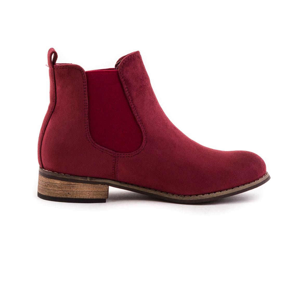 neu damen schlupf stiefeletten worker ankle boots schuhe. Black Bedroom Furniture Sets. Home Design Ideas