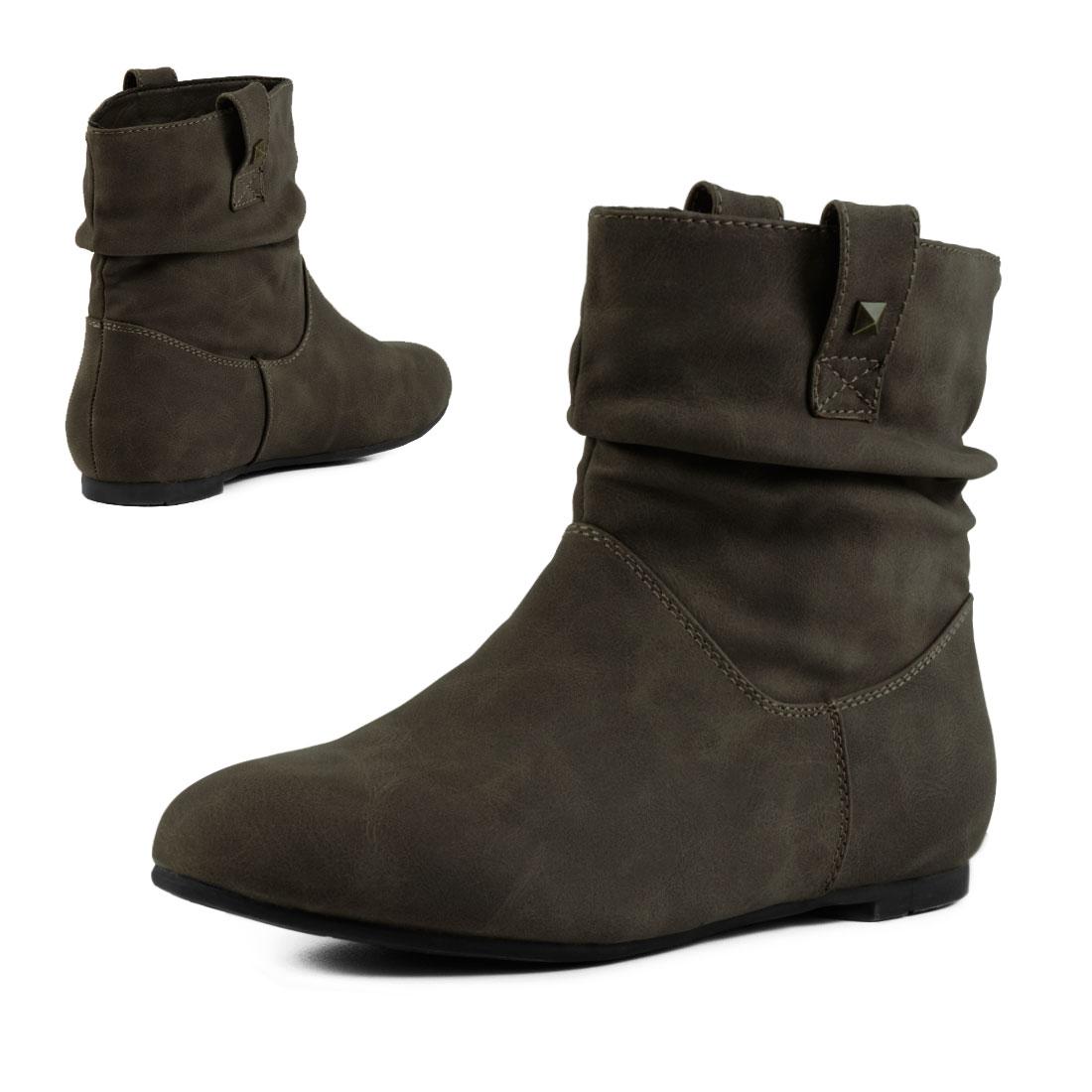 neu damen schlupf stiefel basic boots schuhe gr e 36 37 38 39 40 41 ebay. Black Bedroom Furniture Sets. Home Design Ideas
