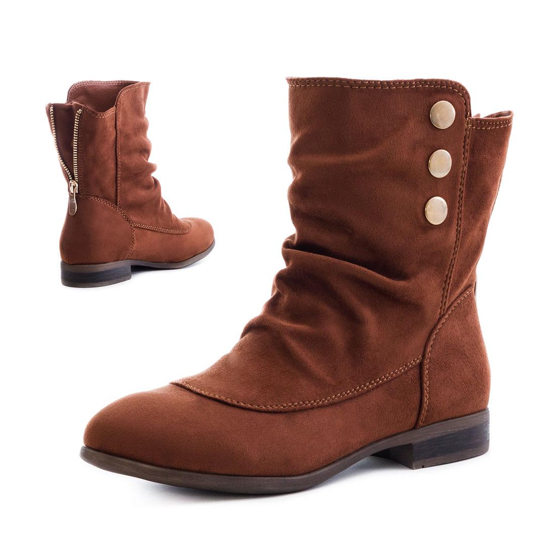 neu damen schlupf stiefeletten worker boots schuhe gr e 36 37 38 39 40 41 ebay. Black Bedroom Furniture Sets. Home Design Ideas