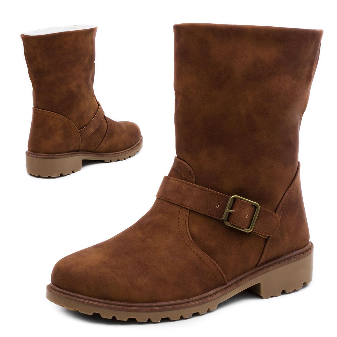damen boots stiefeletten stiefel warm gef ttert schuhe gr e 36 37 38 39 40 41 ebay. Black Bedroom Furniture Sets. Home Design Ideas